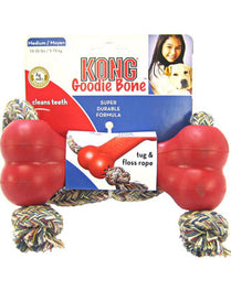 Kong Goodie Bone With Rope Dog Toy Medium