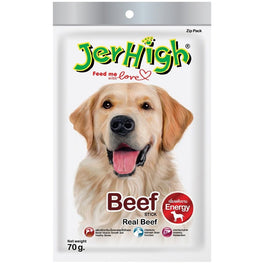 3 FOR $10: Jerhigh Beef Stick Dog Treat 70g