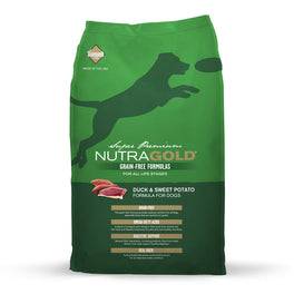 'FREE TREATS' + 50% OFF: NutraGold Grain Free Duck & Sweet Potato Dry Dog Food