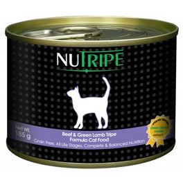 50% OFF: Nutripe Classic Beef & Green Tripe Canned Cat Food 185g