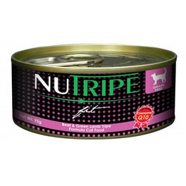 40% OFF: Nutripe Fit Beef & Green Lamb Tripe Canned Cat Food 95g
