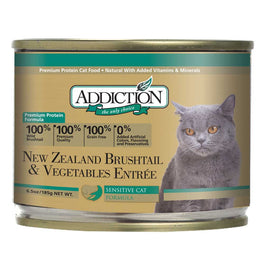 'UP TO 30% OFF': Addiction New Zealand Brushtail & Vegetables Entree Canned Cat Food 185g