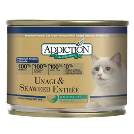 'UP TO 30% OFF': Addiction Unagi & Seaweed Entree Canned Cat Food 185g