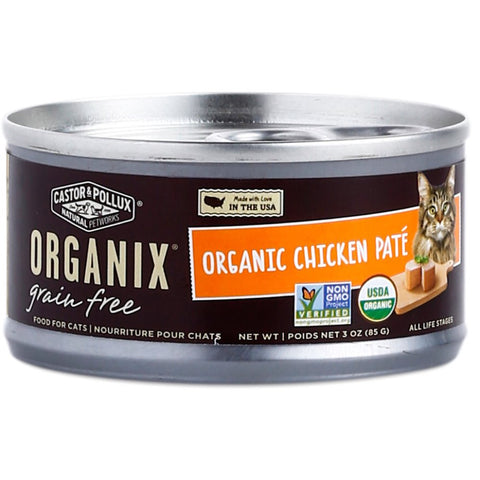 Organix Grain Free Organic Chicken Pate Canned Cat Food 156g