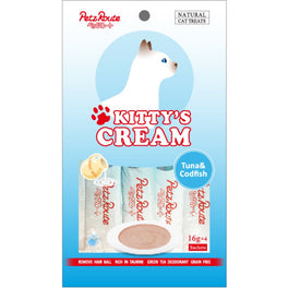 3 FOR $10: Petz Route Kitty's Cream Tuna & Codfish Cat Treats 64g