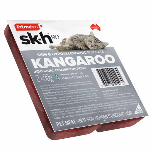 Prime100 Sk-H90 Kangaroo Frozen Raw Cat Food 180g