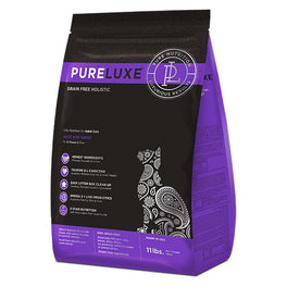 40% OFF: PureLuxe Grain Free Holistic Elite Nutrition for Adult Cats Dry Cat Food 3.3lb (Exp Oct 19)