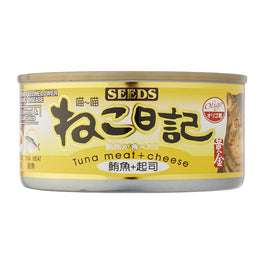 '50% OFF': Seeds Miao Miao Tuna & Cheese Grain Free Canned Cat Food 170g (Exp 10 Jul 19)