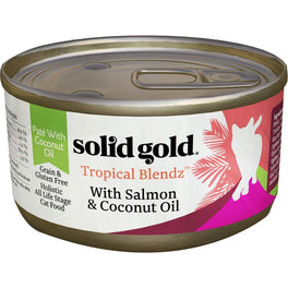 Solid Gold Tropical Blendz With Salmon & Coconut Oil Canned Cat Food 3oz