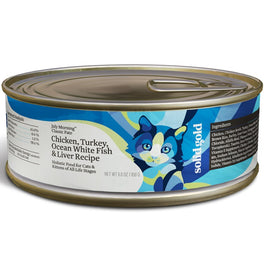 Solid Gold July Morning Classic Pate Chicken, Turkey, White Fish & Liver Canned Cat Food 156g
