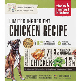 'FREE TREATS': The Honest Kitchen Thrive Limited Ingredient Dehydrated Dog Food