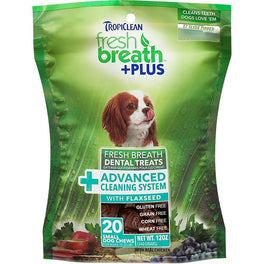 Tropiclean Fresh Breath Plus Advanced Cleaning System Dental Chews