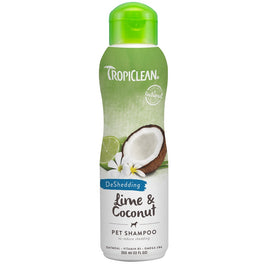Tropiclean DeShedding Lime & Coconut Pet Shampoo 12oz