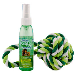 Tropiclean Fresh Breath Liquid Floss and TriFlossBall