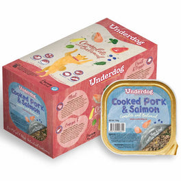 'FREE TREATS': Underdog Cooked Pork & Salmon Complete & Balanced Frozen Dog Food 1.2kg