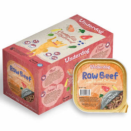 'FREE TREATS': Underdog Raw Beef Complete & Balanced Frozen Dog Food 1.2kg