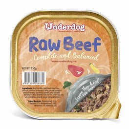 Underdog Raw Beef Complete & Balanced Frozen Dog Food 150g