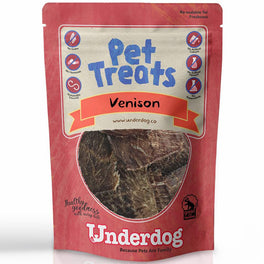 Underdog Venison Jerky Air Dried Dog Treats 60g