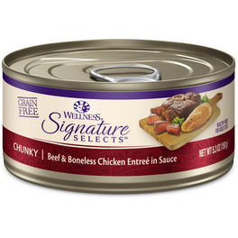 BUY 3 GET 1 FREE: Wellness CORE Signature Selects Chunky Beef & Chicken Canned Cat Food 5.3oz