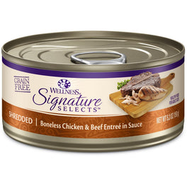 BUY 3 GET 1 FREE: Wellness CORE Signature Selects Shredded Chicken & Beef Canned Cat Food 5.3oz