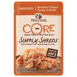 Wellness CORE Simply Shreds Boneless Chicken Pouch Cat Food 1.75oz