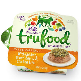 BUY 3 GET 1 FREE: Wellness TruFood Tasty Pairings Chicken, Green Beans & Chicken Liver Cup Tray Dog Food 5oz