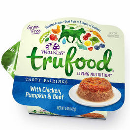 25% OFF: Wellness TruFood Tasty Pairings Chicken, Pumpkin & Beef Cup Tray Dog Food 5oz (Exp Dec 19)