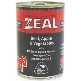 20% OFF: Zeal Beef, Apple & Vegetables Canned Dog Food 390g (Exp Sep 19)