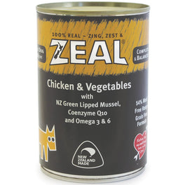 20% OFF: Zeal Chicken & Vegetables Canned Dog Food 390g (Exp Oct 19)