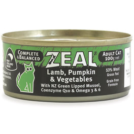 20% OFF: Zeal Lamb, Pumpkin & Vegetables Canned Cat Food 100g (Exp Sep 19)