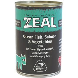 20% OFF: Zeal Ocean Fish, Salmon & Vegetables Canned Dog Food 390g (Exp Sep 19)