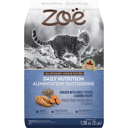 25% OFF: Zoe Daily Nutrition Chicken With Sweet Potato & Quinoa Recipe Dry Cat Food