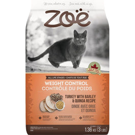40% OFF 2.5kg (Exp 2 Aug 19) : Zoe Weight Control Turkey With Barley & Quinoa Recipe Dry Cat Food