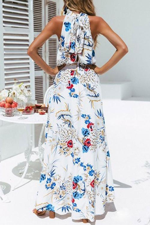 Vee Boho Evening Party Cocktail Prom Maxi Dress
