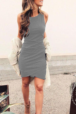 Vee Casual Bodycon Mini Dress