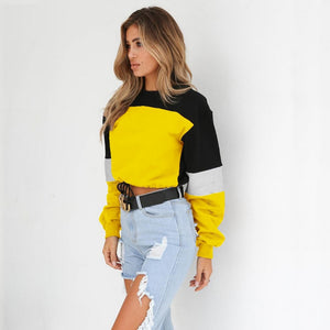 Vee Color Block Patchwork Shirt
