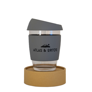 Glass Coffee Cup - Grey