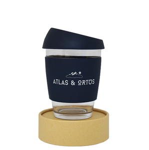 Glass Coffee Cup - Navy