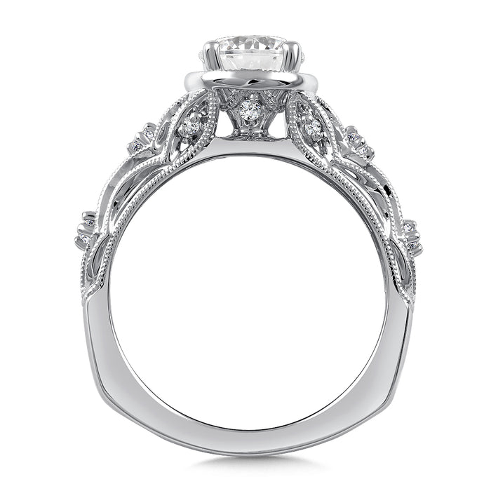 Valina Diamond Engagement Ring Mounting in 14K White Gold (.11 ct. tw.)