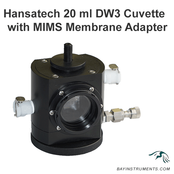 Hansatech 20 ml DW3 Cuvette with MIMS Membrane Adapter, MIMS and Accessories - Bay Instruments, LLC