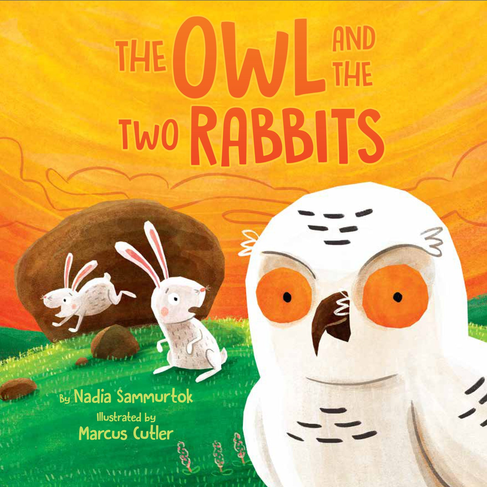 The Owl and Two Rabbits