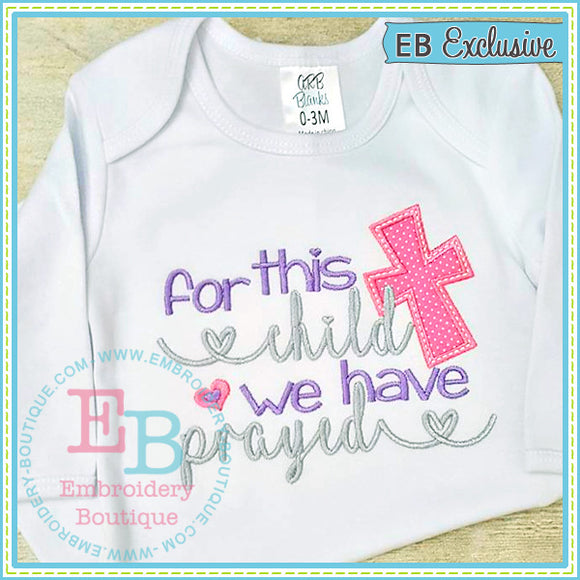 For This Child Design - embroidery-boutique