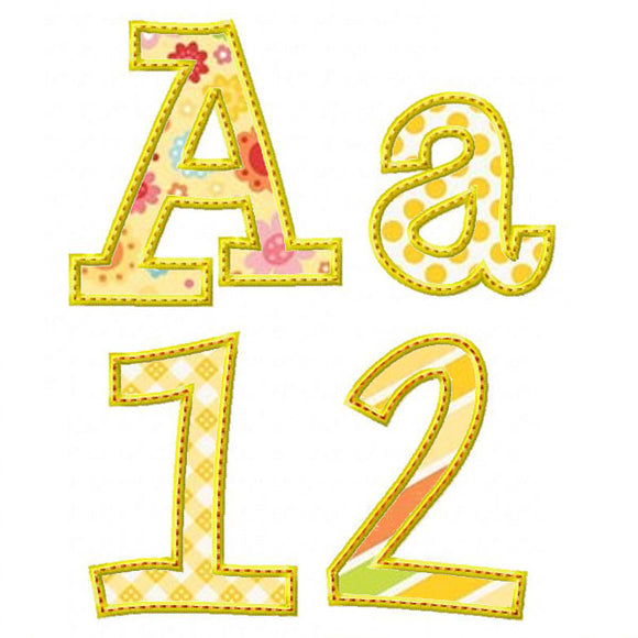 Whimsy Applique Alphabet - embroidery-boutique