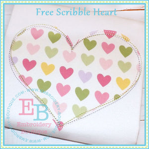 Scribble Heart Applique - embroidery-boutique