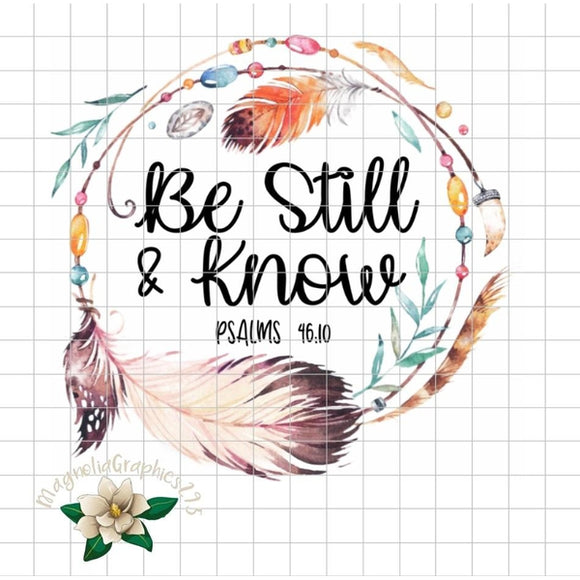 Be Still and Know Psalm 46:10 PNG Printable - embroidery-boutique