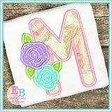 Sweet Roses Satin Alphabet - embroidery-boutique