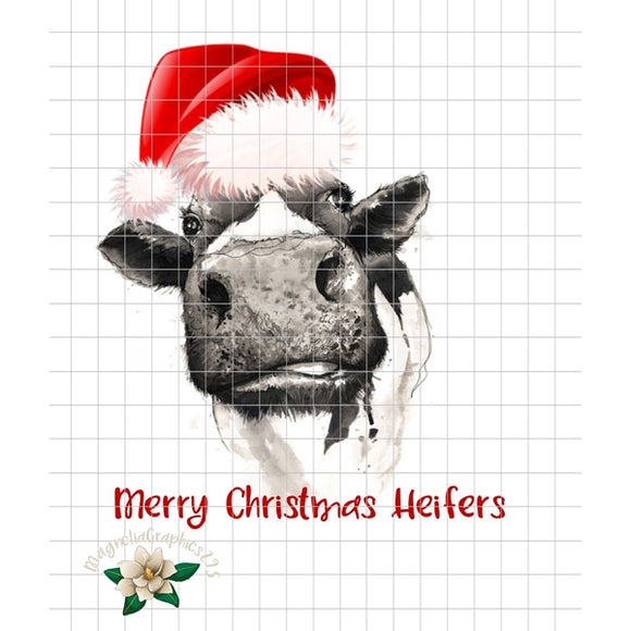 Merry Christmas Heifers PNG Printable - embroidery-boutique