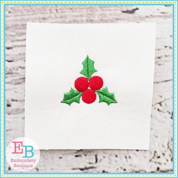Holly Mini Embroidery Design - embroidery-boutique