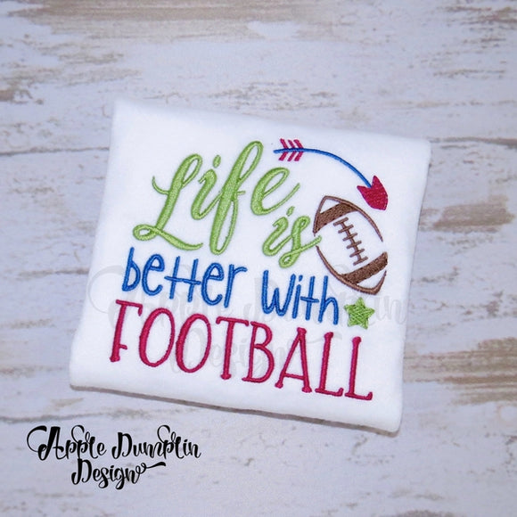Life is better with Football Machine Embroidery - embroidery-boutique