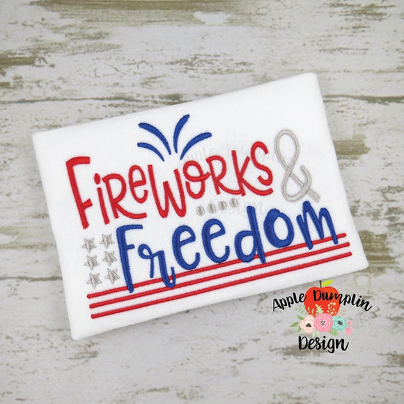 Fireworks and Freedom Embroidery Design - embroidery-boutique